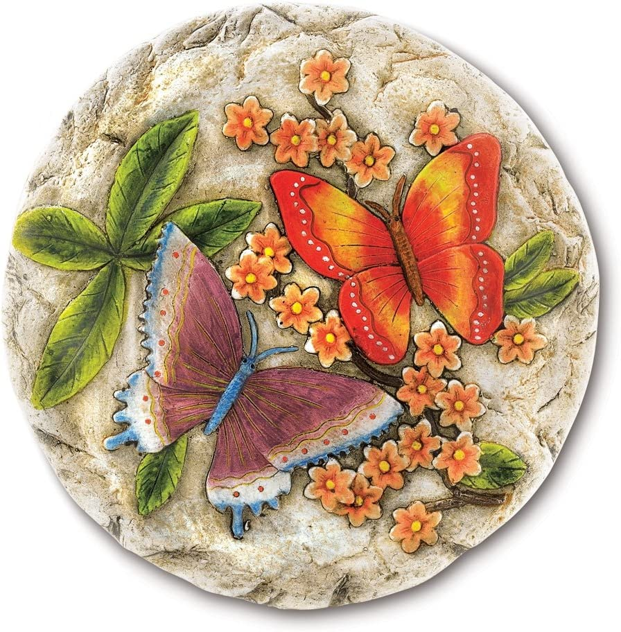 Gifts Decor Butterfly Flower Stone Stepping Garden Direct 1 year warranty stock discount