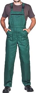 comprar comparacion Pantalones con peto de trabajo para hombre, Made in EU, Mono de trabajo, Azur, blanco, rojo, verde, negro