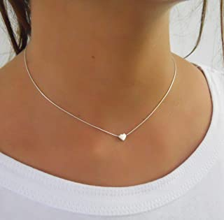 Handmade Dainty Sterling Silver Heart Necklace