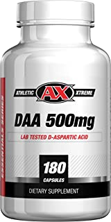 D-Aspartic Acid (DAA)   30 Day Supply of 3000 mg (500mg caps, 180 caps)   Natural Testosterone Booster   Purity Tested, Highest Quality Available