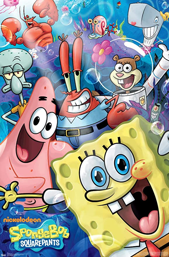 "Amazon.com: Trends International Nickelodeon Spongebob - Joy Wall Poster,  22.375"" x 34"", Premium Unframed Version : Everything Else"