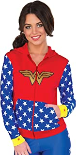 RUBIE'S COSTUME COMPANY Women's DC Comics Wonder Woman Fitted Hoodie  Small/Medium