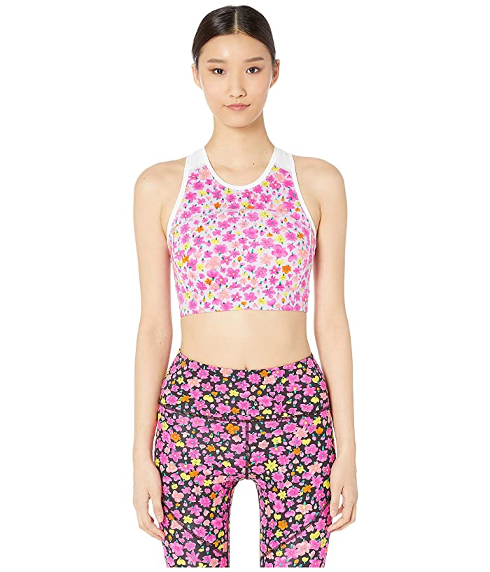 Kate Spade New York Athleisure Marker Floral Sports Bra (Frozen Lilac) Women