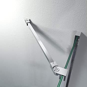 Barra estabilizadora de acero inoxidable, ángulo flexible, montaje en pared para cristales de 6 – 10 mm, cabina de ducha GS12475: Amazon.es: Bricolaje y herramientas