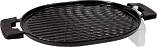 NUWAVE Model 31104 Induction-Ready Precision Induction Cast Iron Grill (11 x 15 inches) with Oil Drip Tray for Healthy Cooking and Easy-to-Clean Enamel Coating