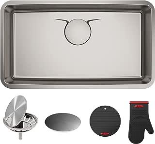 Kraus KD1US33B Dex Undermount Single Bowl Stainless steel Kitchen Sink, 33