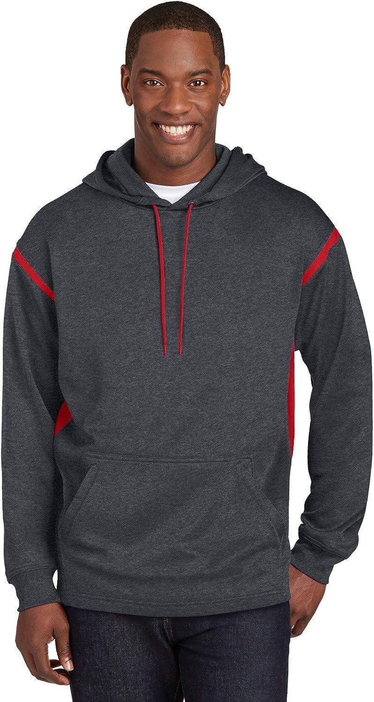 Sport Tek Tall Hooded Sweatshirt. TST246, Graphite Heather/True Red, XLT