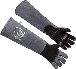 RAPICCA Animal Handling Gloves Bite Proof Kevlar Reinforced Leather Padding Dog,Cat Scratch,Bird Handling Falcon Gloves Gr...