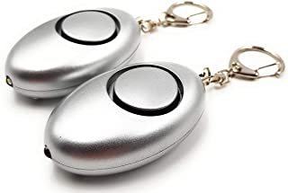 Ocona Zakalarm, 2 stuks, zelfverdediging, sirene 140 dB, LED-lamp zilver