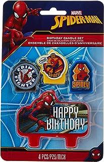 "Amscan 171860 Spider-Man""Webbed Wonder"" Birthday Candle Set, Multicolor"
