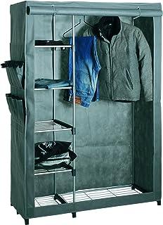 Haku Möbel 44340 Penderie pour Vêtements Tube d'Acier/Plastique/Toison Synthétique Aluminium/Gris 50 x 116 x 173 cm