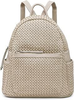 Women Backpack Purse Woven Trendy Stylish Casual Dayback Handbag