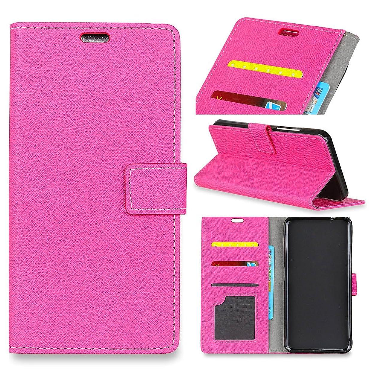 障害者サイズページェントLoveBee Huawei P20 スマホケース、 開閉式 レザーケース女性用 薄型 カードポケット付き Huawei P20 スマホケース (Rosy)