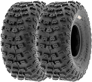 SunF 22x10-8 22x10x8 ATV UTV A/T Knobby Race Replacement 6 PR Tubeless Tires A030, [Set of 2]