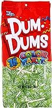 Dum Dums Color Party Lollipops, Bright Green, Sour Apple Flavor, 12.8 Ounce, 75 Count Bag