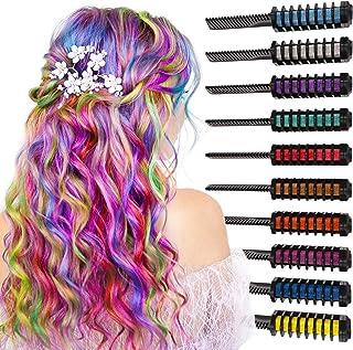 comprar comparacion Arteza Peines de tiza de colores para el pelo - 10 colores temporales de cabello, perfectos para fiestas, Halloween, disfr...