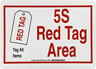 Brady 122297 Plastic 5-S Red Tag Area Sign, 10