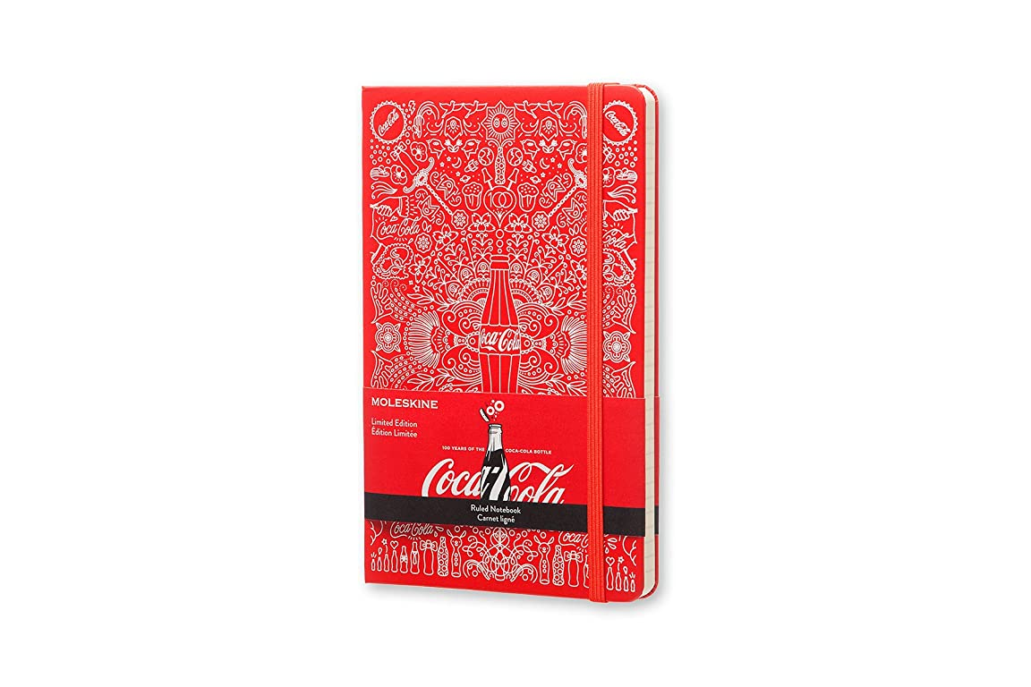 測る教科書トレッドモレスキン ノート 限定版 コカコーラ ハードカバー 横罫 ラージ LECOQP060