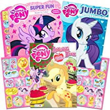 My Little Pony Coloring Book Super Set with Stickers (4 MLP Books - Over 375 Pages and 75 My Little Pony Stickers Total Featuring Rainbow Dash, Fluttershy, Pinkie Pie and More)