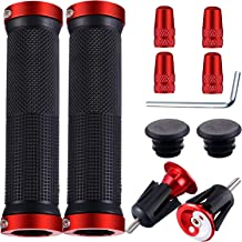 Bike Handlebar Tool Include 2 Pieces Bicycle Handlebar Grips 2 Pieces Bar End Plugs and 4 Pieces Presta Valve Cap Compatible with Most Bicycle Mountain Bike Road Bike MTB BMX