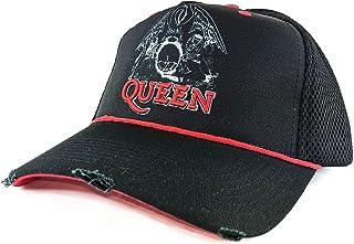 Amplified Clothing Queen Line Art Crest Black Trucker Cap