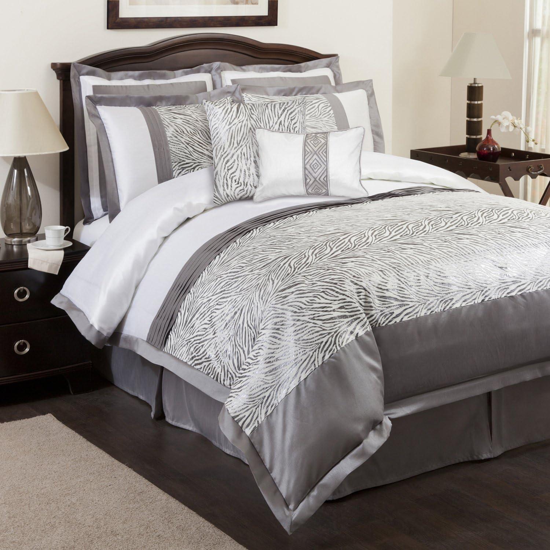 Lush Decor High order Urban Savanna 8-Piece Set Comforter Dallas Mall King Gray