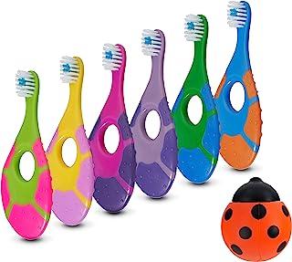 6 Pack - Baby Toothbrush, 0-2 Years, Soft Bristles, BPA Free | Toddler Toothbrush, Infant Toothbrush, Training Toothbrush,...