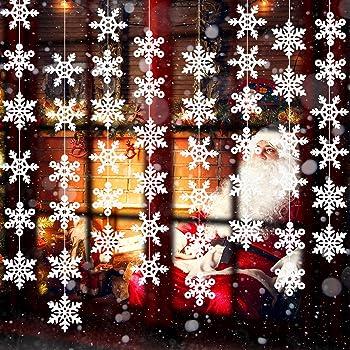 8 Pack de Adornos de Copo de Nieve de Navidad Blanco Guirnalda ...