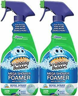 Scrubbing Bubbles Mega Shower Foamer With Ultra Cling Trigger, Pack of 2, 32 Ounce