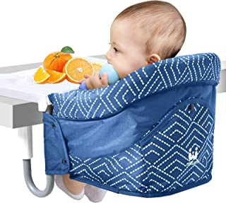 Hook On Chair, Fold-Flat Storage Portable Feeding Seat for 6-36 Month Baby and Toddler, Safe and High Load Design 17kg,Att...