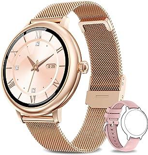 NAIXUES Smartwatch Mujer, Reloj Inteligente Impermeable 67, Monitor de Sueño y Caloría Pulsómetro, 7 Modos de Deportes, No...