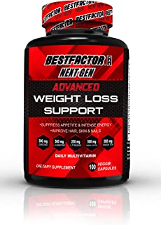 BESTFACTOR Max NG Weight Loss Pills for Women & Men (100 Veg Caps) for a Healthy Livestyle. Maximize your Exercise Program with BF Max Daily Multivitamin Energy Diet Pills & Improve Hair, Skin & Nails