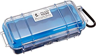 Waterproof Case | Pelican 1030 Micro Case - for GoPro, camera, and more (Blue/Clear)