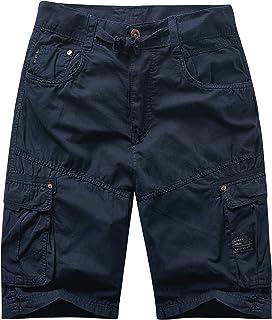 ZITY Mens Cargo Shorts Expandable Waist Lightweight Casual Shorts
