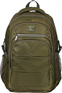 SUN BABY Women's and Men's Urban Kings Anti Theft Water-Resistant Slim Travel Computer Laptop School Backpack (Green)
