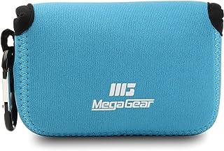 MegaGear MG717 Estuche de cámara Ultra Ligero de Neopreno Compatible con Panasonic Lumix DC-TZ95 DC-TZ90 DMC-TZ100 - Azul