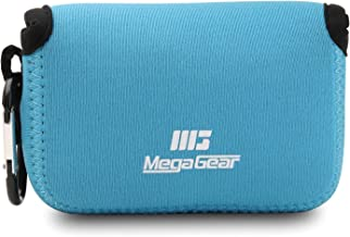 MegaGear ``Ultra Light`` Neoprene Camera Case Bag with Carabiner for Panasonic Lumix DC-ZS80, DC-ZS70, DMC-ZS100, DC-TZ95, DC-TZ90, DMC-TZ100 (Blue)