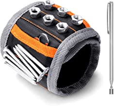 HORUSDY Magnetic Wristband,with Strong Magnets for Holding Screws, Nails, Drilling Bits,..