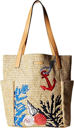 North/South Straw Beach Tote