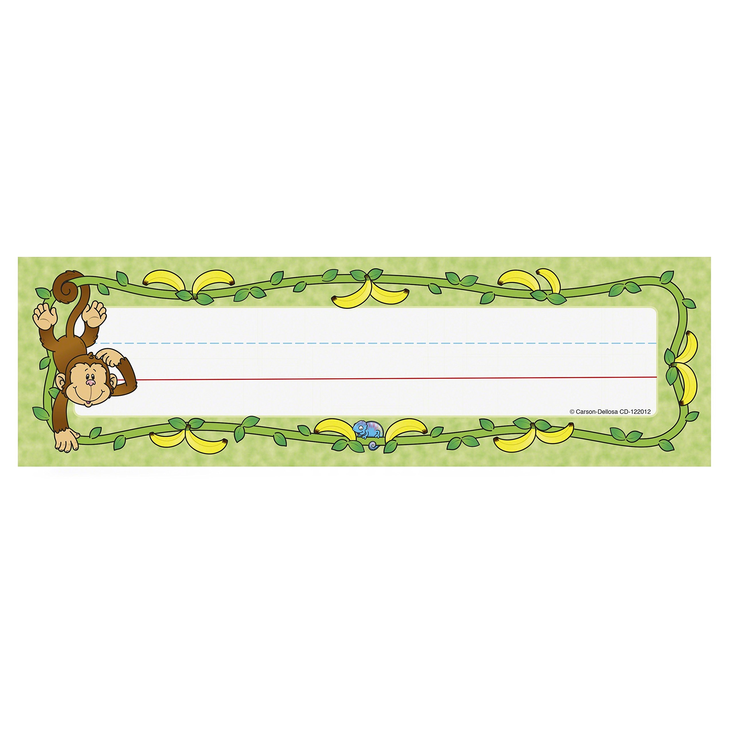 Amazon Com Carson Dellosa Monkey Nameplates 122012 Name Plates Office Products