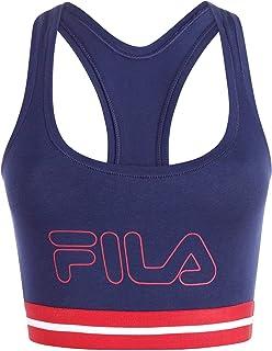 Fila Women's Classic Logo Cotton Racerback Sports Bra