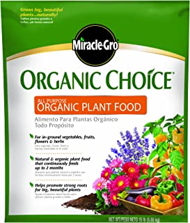 Miracle-Gro Organic Choice 100958 All Purpose Organic Plant Food, 15-Pound (Organic Fertilizer)
