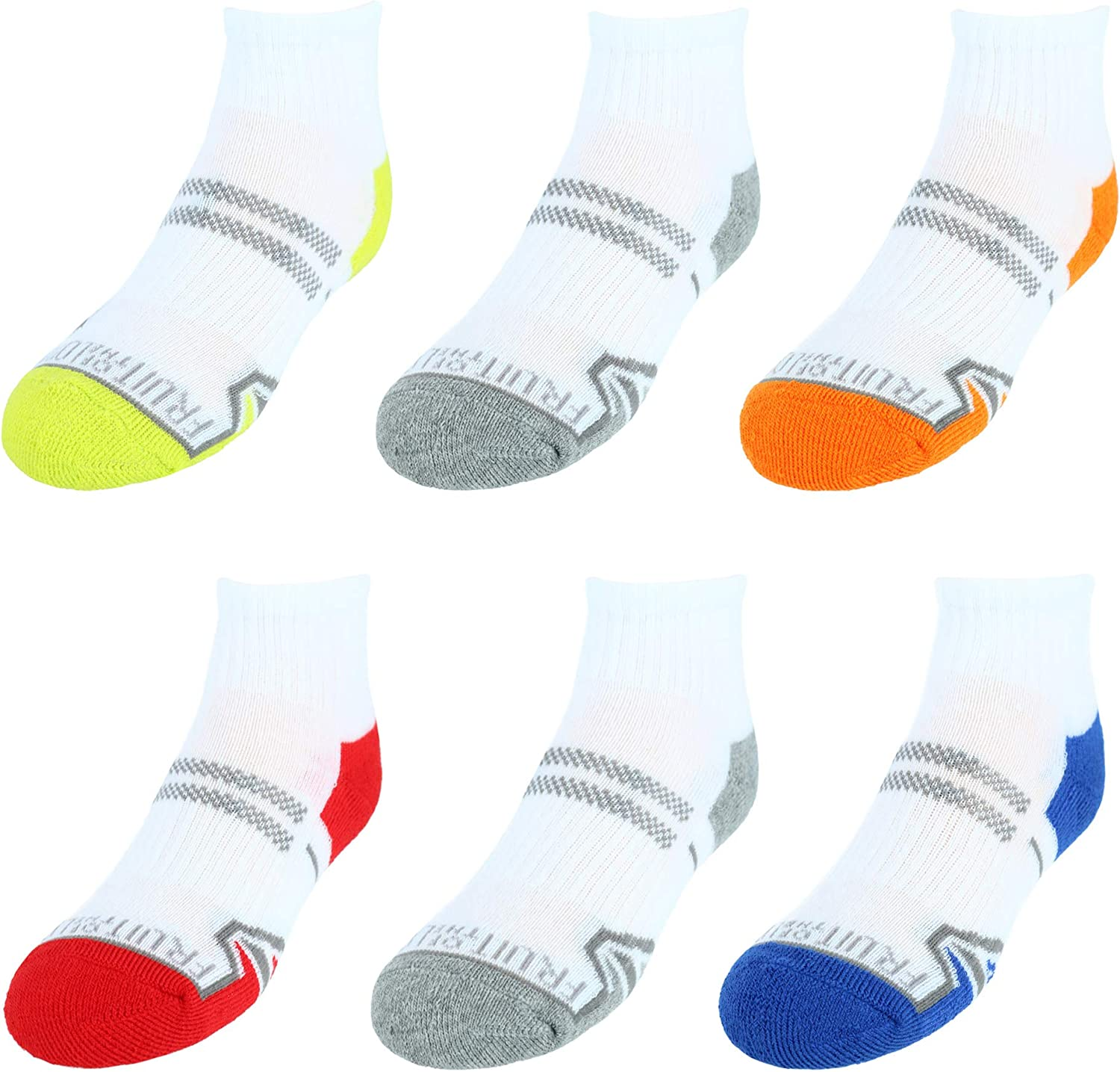 Fruit of the Loom Boy's Active Ankle Socks (6 Pair Pack)
