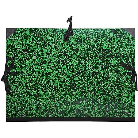 Exacompta 531200E - Carpeta de dibujo annonay con cintas, B4, verde