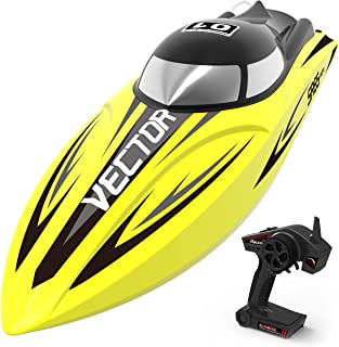 VOLANTEXRC Remote Control Boat RC Boat Vector SR65 26inch 34mph High Speed RC Watercraft Auto Self-righting, Reverse Function in Lakes, Rivers for Kids or Adults, Boys or Girls (792-5 Yellow)