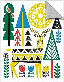 "Tremont Hill Michael Mullan Folk Lodge Deer I Removable Wall Art Mural 24X32"" 2mul048a2432p"