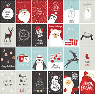 24 Assorted Boxed Christmas Greeting Cards with Envelops