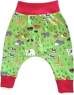 Balna Baby Pumphose Kinder Tiere Safari Hose Jersey Baumwolle Dunkelgrau Made in Germany