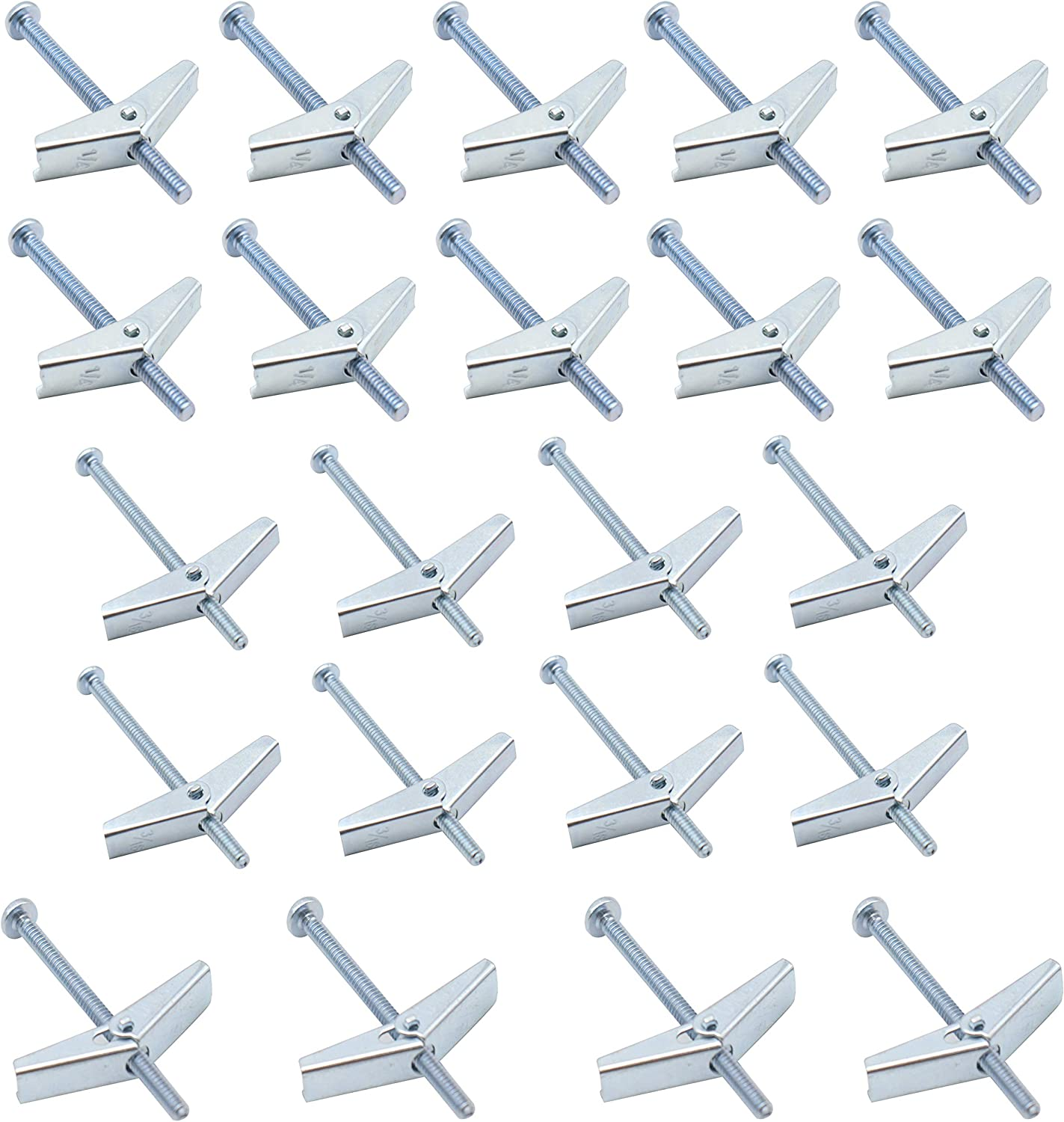 cheap Eowpower In stock 22 Pcs 1 8'' 3 16'' Plated Steel inch Togg 4'' Zinc