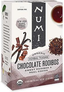 Numi Organic Tea Chocolate Rooibos, 16 Count Box of Tea Bags (Pack of 6) Herbal Teasan (Packaging May Vary)